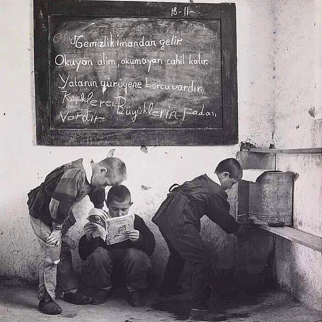 13. Ankara'da bir ilkokul, 1962.
