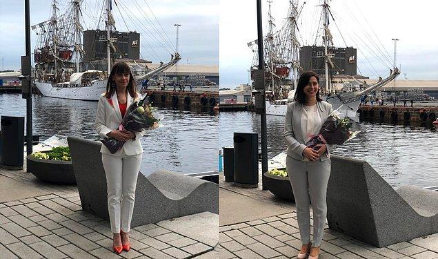 Birbirinden başarılı genç kadınların bulunduğu listede, Türkiye'den Kaptan Ayşe Aslı Başak ve Hande Arı yer aldı