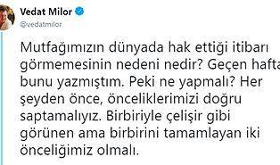 Vedat Milor, Türk Mutfağının Dünyada Hak Ettiği İtibarı Görememesinin Nedenlerini Açıkladı!