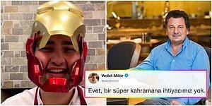"""Adamı Yine Çıldırttılar! Vedat Milor Iron Man Maskesiyle Soğan Doğrayan CznBurak'ı Eleştirdi: """"Süper Kahramana İhtiyacımız Yok"""""""