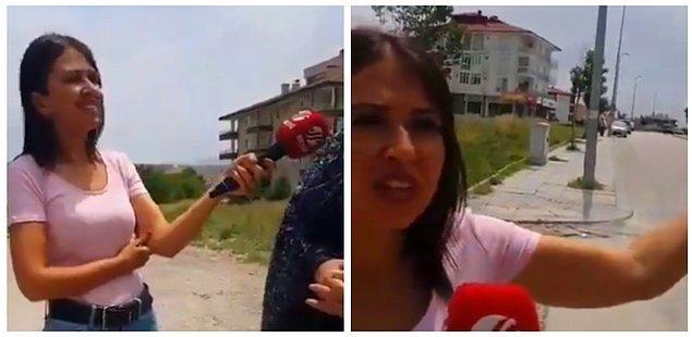 Haber ekibi mezarlık 'perişan' halde diyerek mikrofonu bir vatandaşa uzattı.