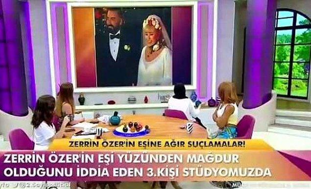 2. Sayfa adlı magazin programında gündeme getirilen konuya göre Özer'in eşi Murat Akıncı, birçok kadını dolandırmıştı.