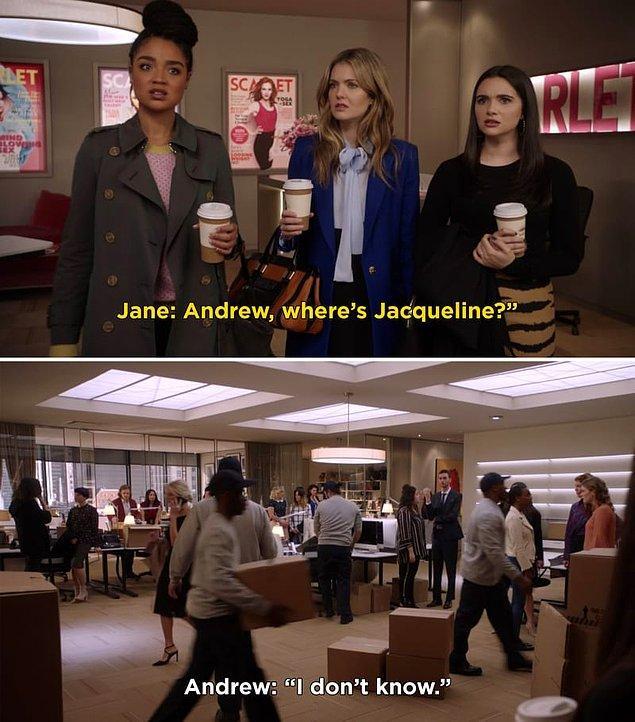 Aynı zamanda üçüncü sezon finali, görünüşe göre Jacqueline'in Scarlet Magazine'inde kovulduğu, ucu açık bir sonla bitti.