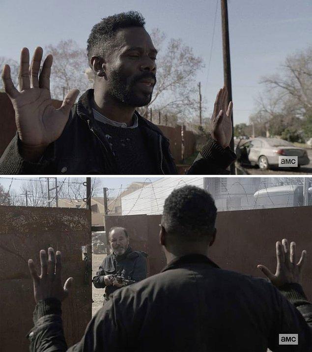 10. Fear the Walking Dead'te Victor, ekibin geri kalanını kurtarmayı reddeden Daniel ile bir araya geldi. Daniel, Luciana ile konuştuktan sonra bile yardım etmedi.