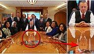 Gözlerimiz Bize Oyun mu Oynuyor? Cumhurbaşkanı Erdoğan'ın Tacikistan Dönüşü Çekilen Fotoğrafında Masadaki Yansıması Kafaları Karıştırdı!
