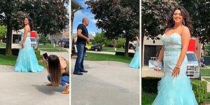 Kızının Mezuniyet Fotoğrafının Daha Güzel Olması İçin Yaprak Üfleme Makinesiyle Yardım Baba Gibi Baba!