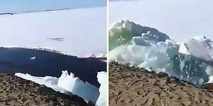 Rusya'da Bulunan Yenisey Nehrinde Meydana Gelen 'Buz Tsunamisi'nin Şaşırtıcı ve Korkutucu Görüntüleri!