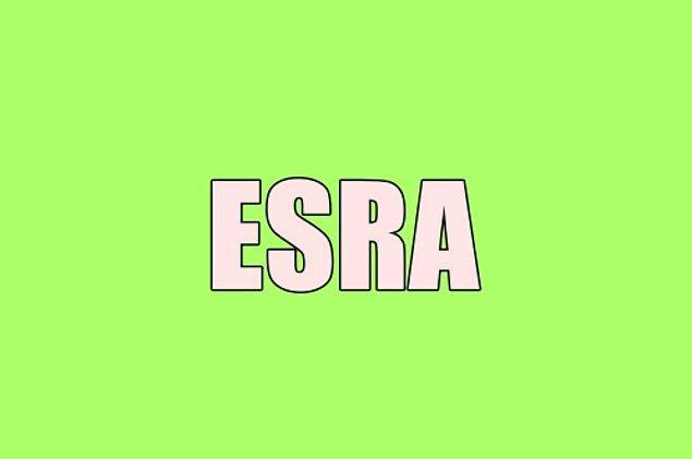 Sana gizliden gizliye aşık olan kişinin adı Esra!
