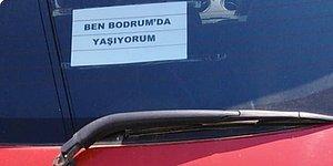 Bodrum'da Yaşayan İstanbul Plakalı Araç Sahibinin Camına Astığı Gülümseten Mesaj
