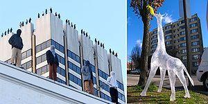 Böylesini Hiç Görmediniz! Sıra Dışı Heykelleriyle Çarpıcı Manzaralar Yaratan Sanatçıdan Muazzam Kareler