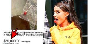 Ariana Grande'nin Sahnede Yalayıp Dinleyicilere Attığı Lolipop Dudak Uçuklatan Bir Fiyattan Satışa Çıkarıldı!
