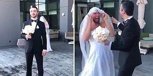 Evleneceği Kadını Fotoğraf Çekimi İçin Beklerken Ufak Bir Sürprizle Karşılaşan Damat