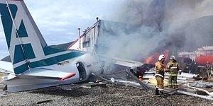 Rusya'da Acil İniş Yapan Uçak Pistten Çıktı, Pilotlar Öldü: İşte O Uçağın İniş Anına Ait Görüntüler!