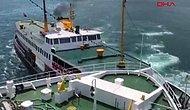 İstanbul Boğazı'nda Faciadan Dönüldü: Bir Gemi ile Vapur Çarpıştı!