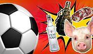 ÇAKMAK DA NE? Futbol Karşılaşmalarında Sahaya Atılan Birbirinden İlginç Cisimler