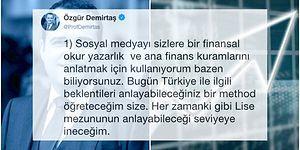 Türkiye'deki Ekonomik Beklentileri Daha İyi Anlayabilmeniz İçin Özgür Demirtaş'ın Bu Paylaşımını Mutlaka Okumalısınız!
