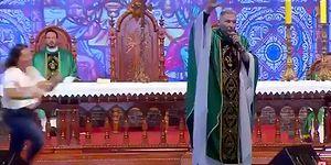 'Şişman Kadınlar Cennete Gidemez' Diyen Rahibi Sahneden Fırtlattılar!