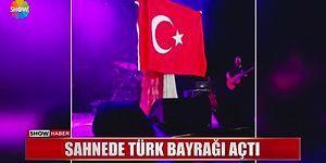 Grammy Ödüllü Şarkıcı Joss Stone'dan Konserde Türk Bayrağı Jesti