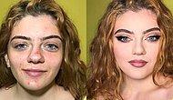 İki Farklı İnsan Gibi! Bu Fotoğraflara Bakarken Makyajın Gücünü Net Bir Şekilde Göreceksiniz