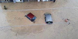 Düzce'de Yaşanan Sel ve Heyelan Felaketinin Etkisinin Ne Kadar Büyük Olduğunu Gözler Önüne Seren Korkutucu Görüntüler!