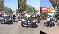 Kırmızı Işıkta Geçen Şoförü Durdurmak İçin Aracın Üzerine Atlayan Trafik Polisi