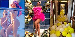 Bu Yıl da Geleneği Bozmadı: Ünlü Yıldız Kylie Jenner'ın Dillere Destan 22. Yaş Doğum Günü Kutlaması