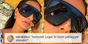 Yasemin Özilhan'ın Yüzünü Kaplayan Ultra Büyük Gözlüğü Sosyal Medyanın Diline Düştü, Espriler Havada Uçuştu