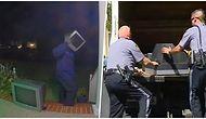 Amerika'da Bi' Garip Olay! Kafasına Televizyon Geçirip Evlerin Önüne Eski Televizyon Bırakan Adam