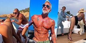 Modellerin Popolarını Darbuka Gibi Çalarak Şaka Yapmaya Çalışırken Eleştiri Oklarının Hedefi Olan İtalyan Milyoner