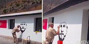 Mustafa Kemal'in Askerinden Hakkati Zap'da Atatürk Portresi!