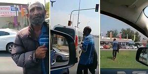 Trafik Işıklarında İnsanların Duygularıyla Oynayan Dilencinin Oyununu Bozan Vatandaş!
