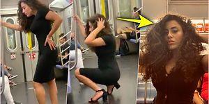 Metroda Cesurca Poz Verip Çektiği Selfieler Nedeniyle Şaşkınlığa Uğratan Kadın Sosyal Medyanın Gündeminde!