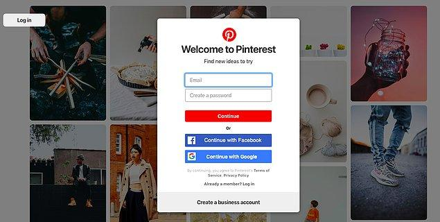 5. Pinterest'in dünyasına giriyoruz! Neler paylaşılıyor bir bakalım.