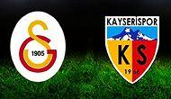 Kayserispor - Galatasaray Maçının Golleri