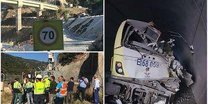 YHT Hattını Kontrol Eden Kılavuz Tren, Tünelde Raydan Çıkarak Duvara Çarptı: İki Makinist Hayatını Kaybetti