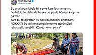 Ölülerin Tabutlarından Çıkarılıp Temizlendiği ve Onlarla Hasret Giderildiği Ma'nene Törenine Katılan Twitter Kullanıcısı