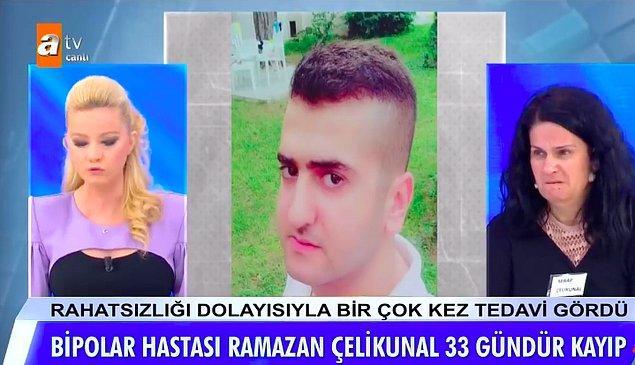 Bir Zamanlar Çukurova dizisinde figüran olarak çalışan Serap Çelikkünal Çukurova Üniversitesi'nde memur olarak görev yapan 24 yaşındaki kayıp oğlunu bulmak için Müge Anlı'ya başvurmuştu.