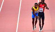 Doha'da Düzenlenen Dünya Atletizm Şampiyonası'na Damga Vuran Anlar: Rakibinin Yarışı Bitirmesine Yardım Etti!