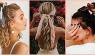 Hanımlar Dikkat! Sezonun Trendi Fularlı Saç Lastiklerinin Saçlarınızın Güzelliğine Güzellik Katacağının Kanıtı 19 Örnek
