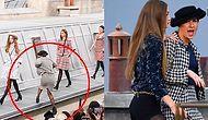 Chanel'in Defilesinde Podyuma Çıkıp Mankenmiş Gibi Yürüyen Kadını Gigi Hadid Kovdu!