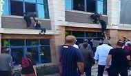 Deprem Oldu Sanıp Camdan Atlamaya Kalkışan Kadın