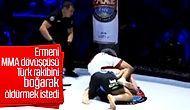 Ermeni dövüşçü MMA maçında Türk rakibini öldürmeye çalıştı