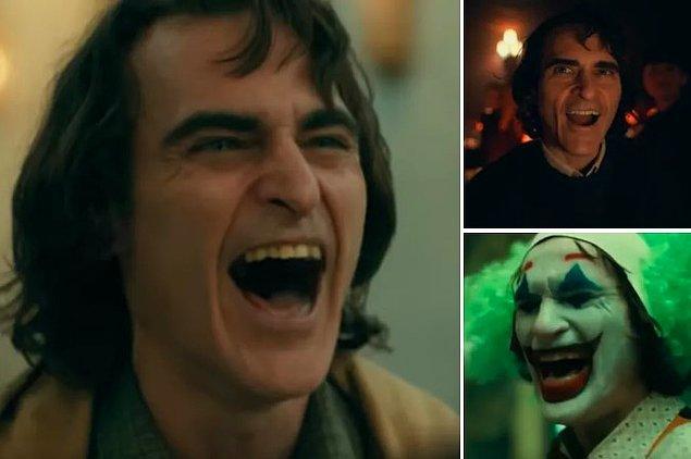 11. Joker'in en az üç tane farklı gülüşü var: 'keder' gülüşü, 'grubun bir parçası' gülüşü, ve sondaki 'gerçekten neşeli' gülüşü.