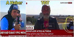 A Haber Muhabirinin 'Kurşunlar Vızır Vızır Üstümüzden Geçiyor' Dediği Anlar TRT'nin Görüntülerine Farklı Yansıyınca Ortalık Karıştı