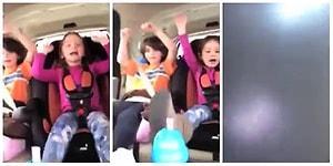 Bu Yüzden Araba Kullanırken Telefona Bakmamalıyız! Şarkı Söyleyen Çocuklarını Kayda Alırken Kaza Yapan Anne