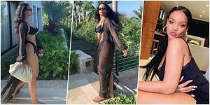 Kraliçeden Kapak Gibi Kapak! Bikinili Videosuyla Hamilelik İddialarına Yanıt Veren Rihanna Ortalığı Yakıp Geçti