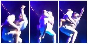 Lady Gaga Konser Sırasında Hayranıyla Dans Ederken Sahneden Düştü
