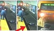Metro Raylarına Düşen Kadının Ölümle Burun Buruna Geldiği Anlar