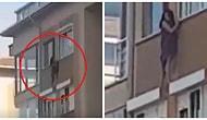 Evin Hanımı Baskına Gelince Çareyi Çıplak Şekilde Pencereden Çıkmakta Bulan Kadın