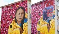 Vatan Partisi, Kadıköy'deki Greta Thunberg Grafitisini Eren Bülbül'ün Pankartı ile Kapattı